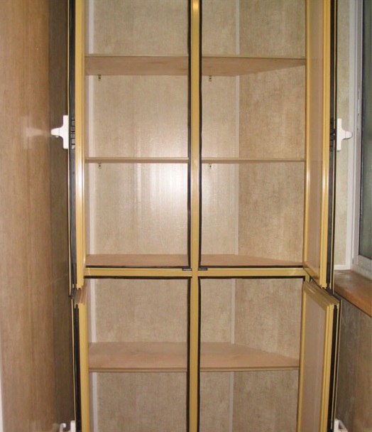 """Шкафы для балконов и лоджий - 25 фотографий"""" - карточка поль."""