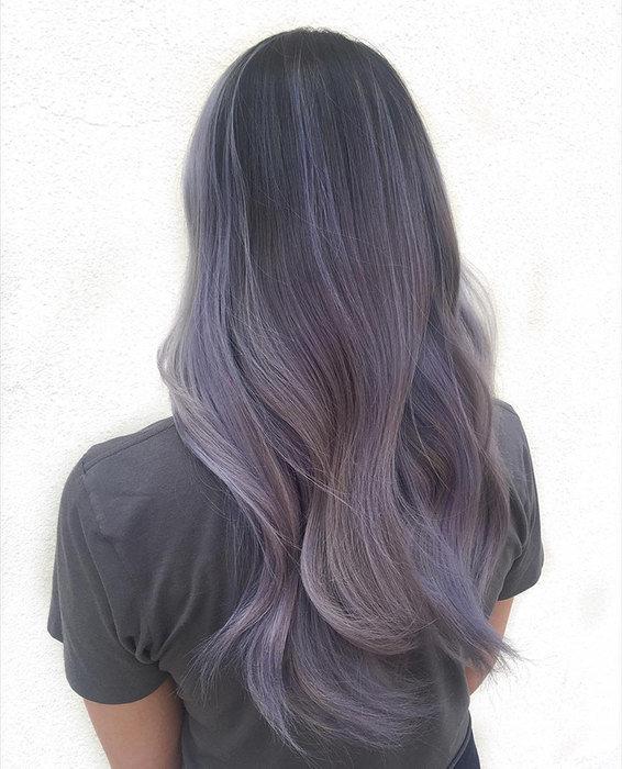 Цвет волос пепельный фиолетовый
