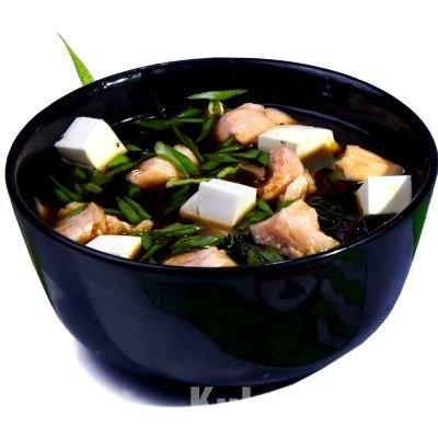 Суп из лосося с водорослями