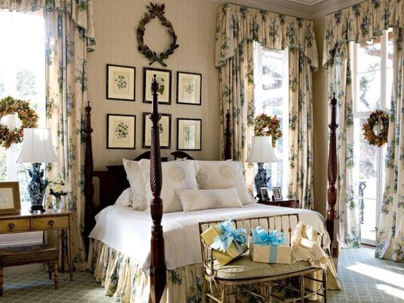 Английский стиль в интерьере: спальня ВЕСЬ МИР В ФОТОГРАФИЯХ