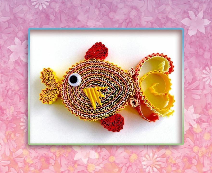 Открытки своими руками золотая рыбка