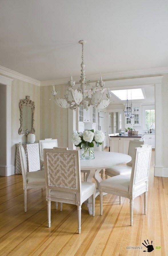 шебби шик: спальня, гостиная, ванная, кухня. Цветовая палитра, декор и оформление стиля шебби шик на фото.