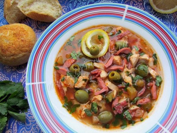 солянка с колбасой классическая рецепт с фото