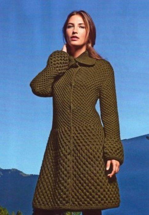 Вяжем женское пальто интернет магазин одежды stella