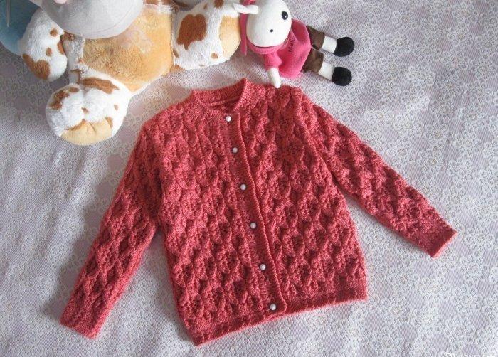 Вязание свитера для девочки видео