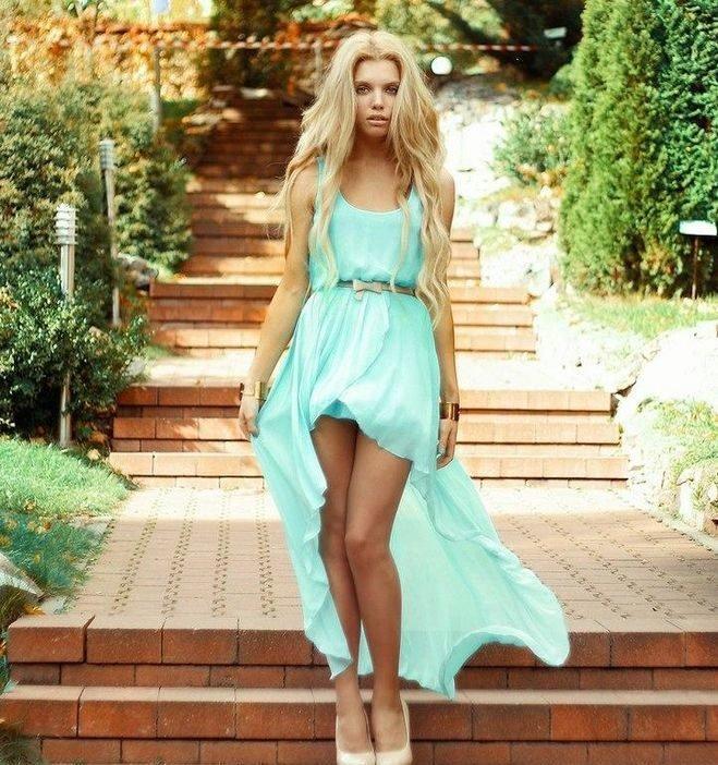 Платье которое спереди короткое сзади длинное картинки