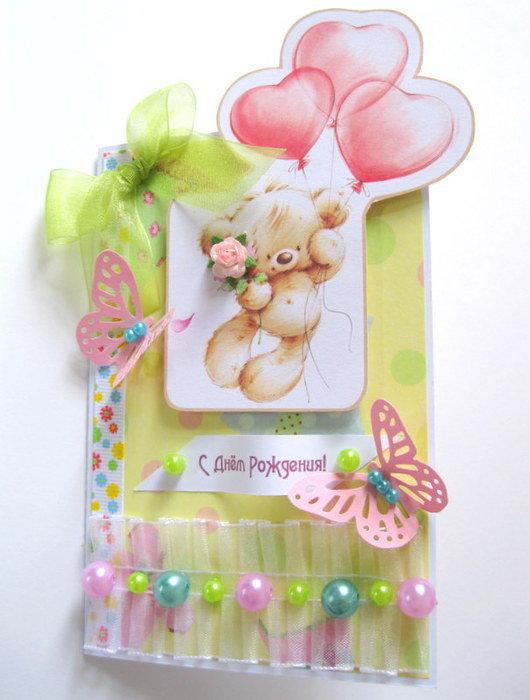 Открытки маме, открытка детская с днем рождения скрапбукинг