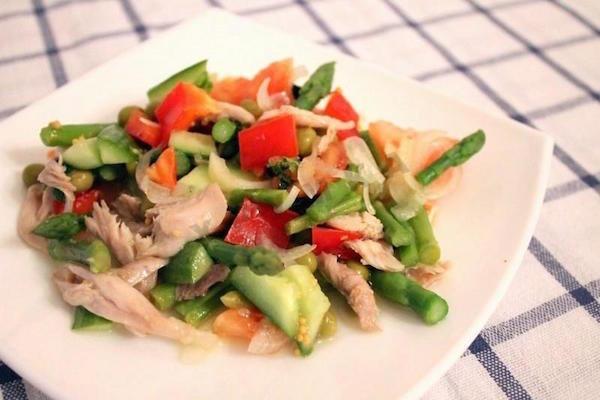 Рецепты салатов со спаржей с фото