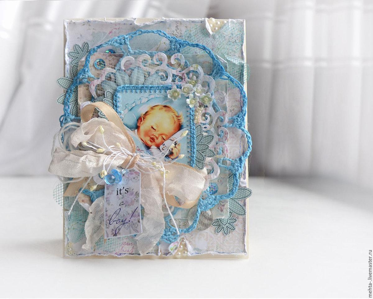 Скрап открытки новорожденным