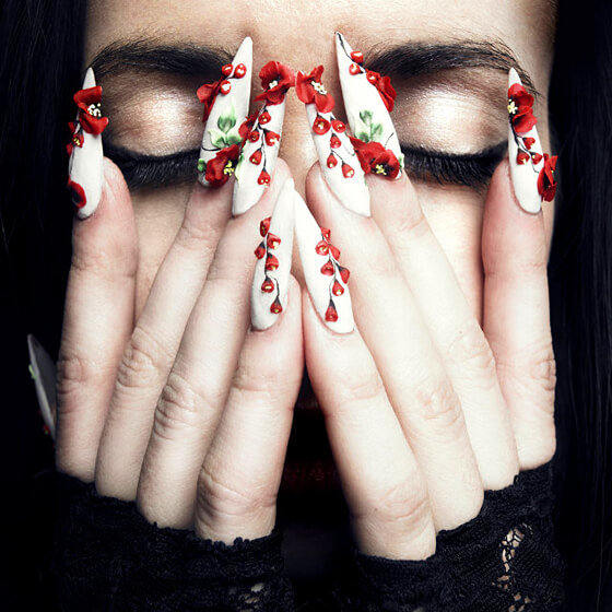 Длинные ногти галереи фото 754-16