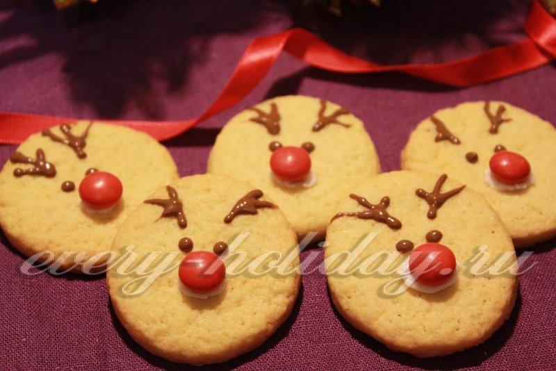 Такие забавные и вкусные олени обязательно понравятся и деткам, и взрослым. Лучшее новогоднее угощение к чаю!