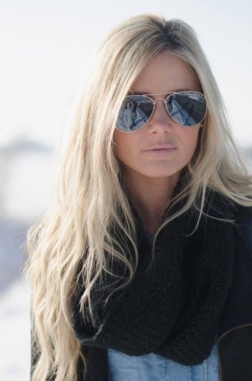 Длинные блонд волосы