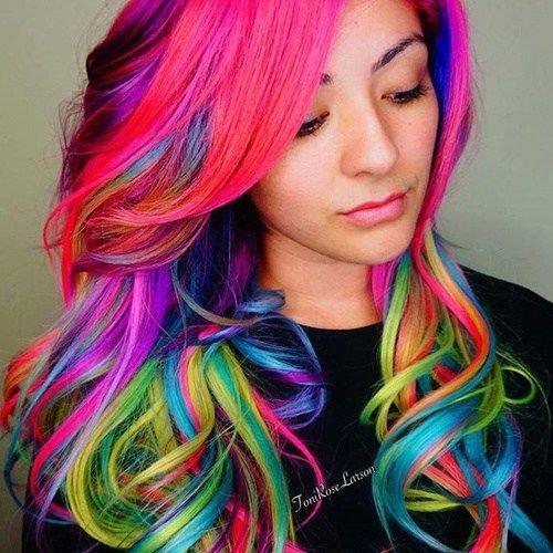 разноцветные волосы фото девушек