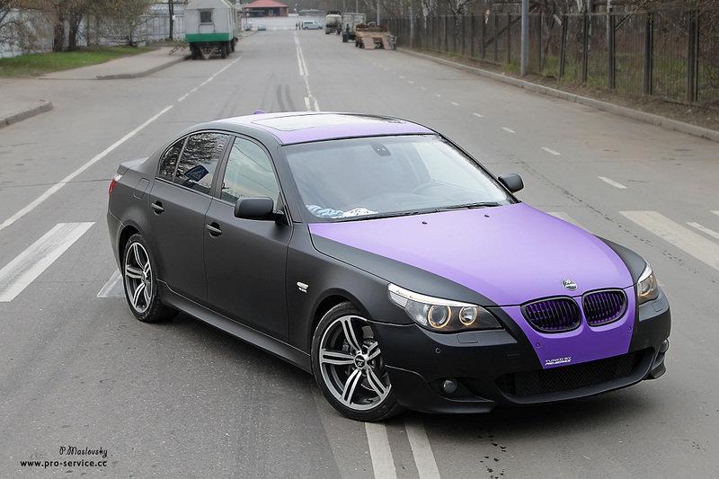 Фиолетовый матовый капот