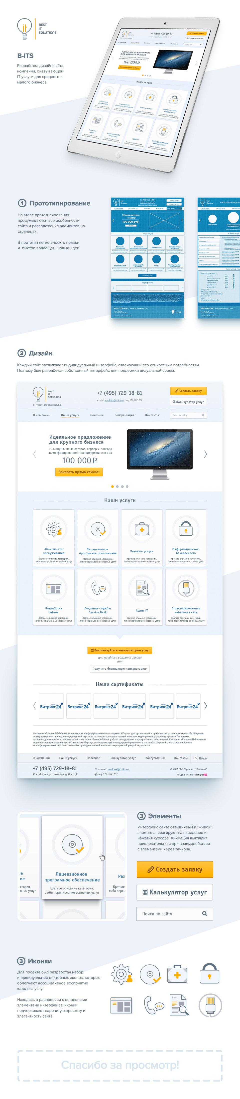 Веб-дизайн сайта BITS
