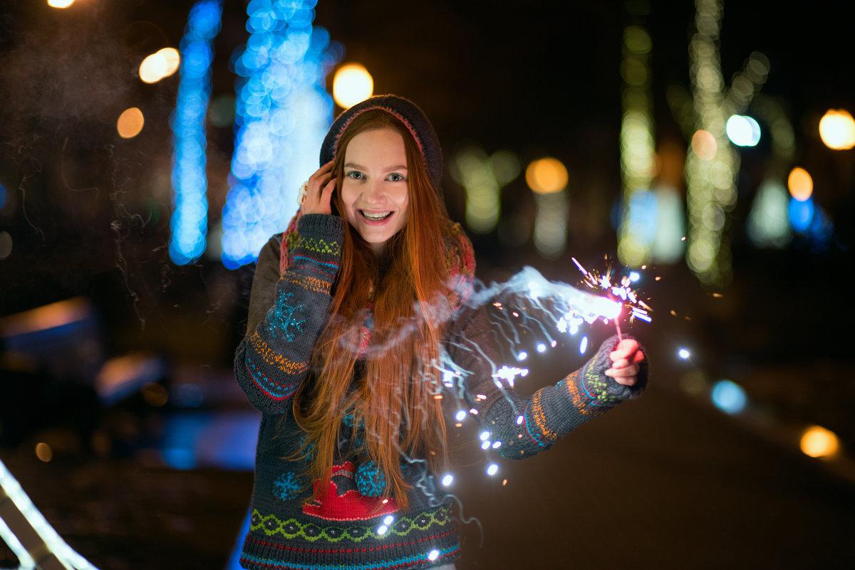 Фотографировать новогодние огни на никон делали темной