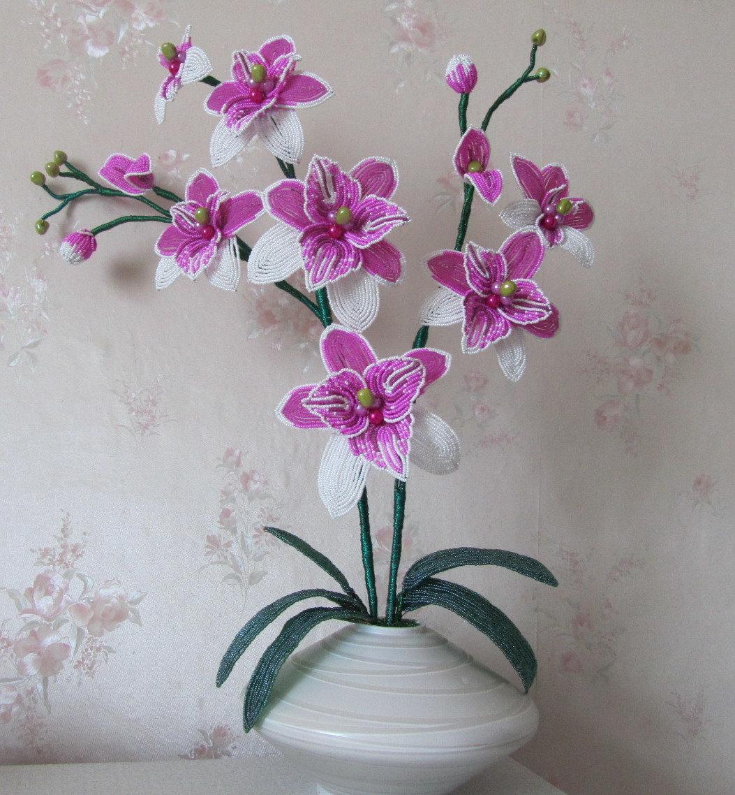 Бисероплетение цветы орхидеи фото