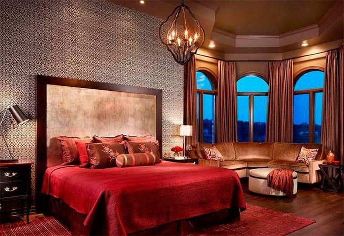 романтическое освещение в спальне