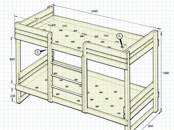 Откидная деревянная кровать своими руками 118
