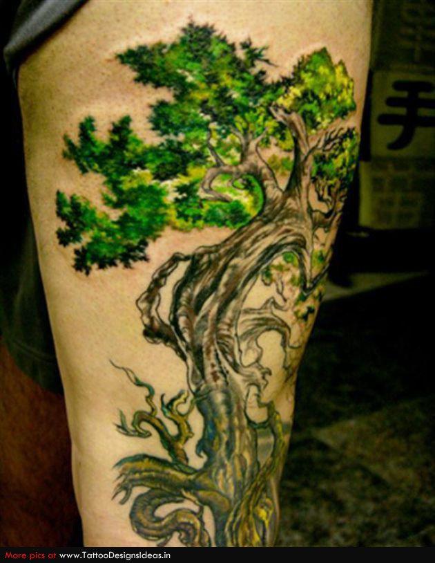 стоит обратить тату дерево з корінням знаете какое нижнее