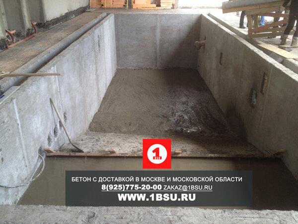 строительство бассейна из бетона М350