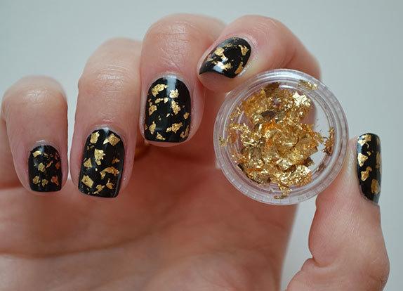Золотая фольга для ногтей 32