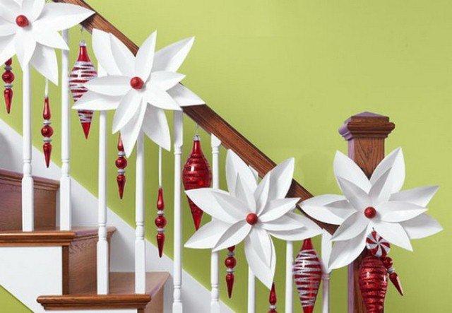 Украшения лестницы на новый год своими руками - Новогодний декор для лестницы