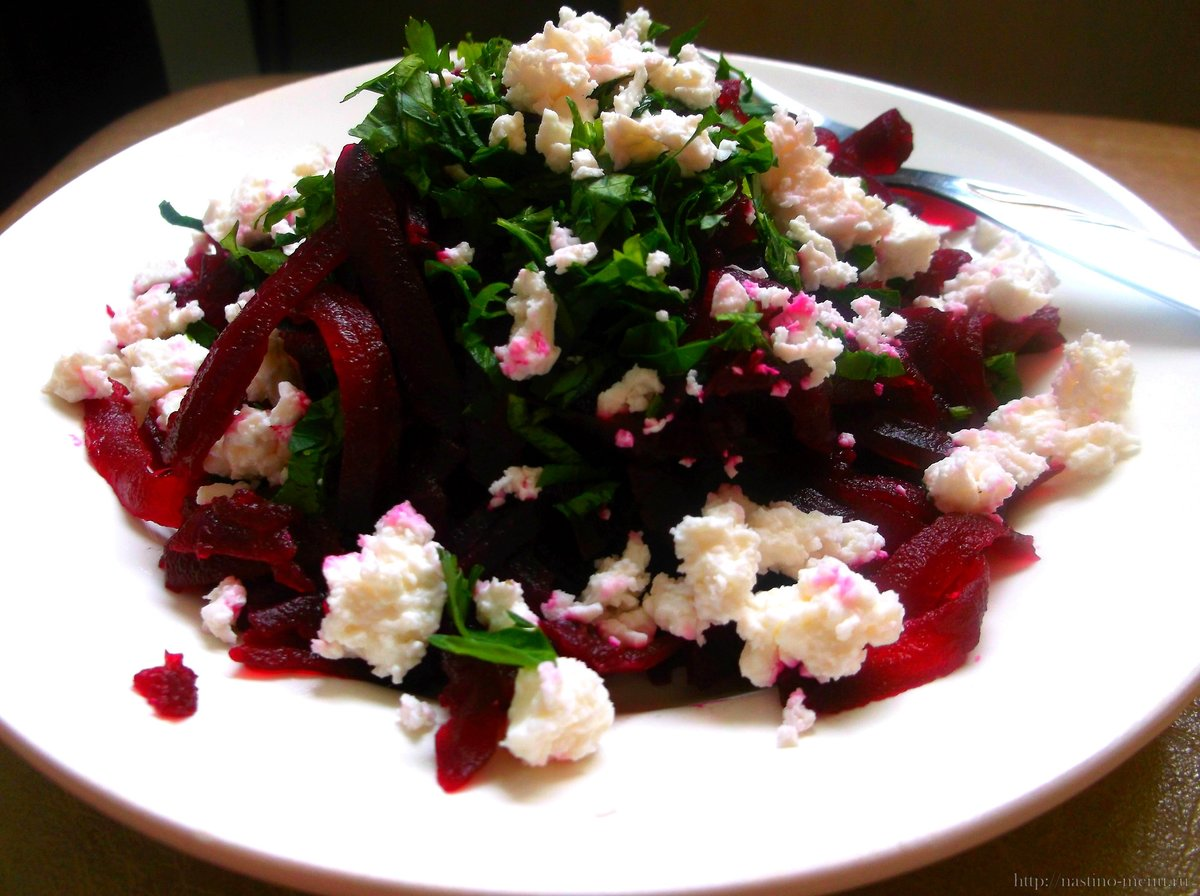 Салат из свеклы с фетой изоражения