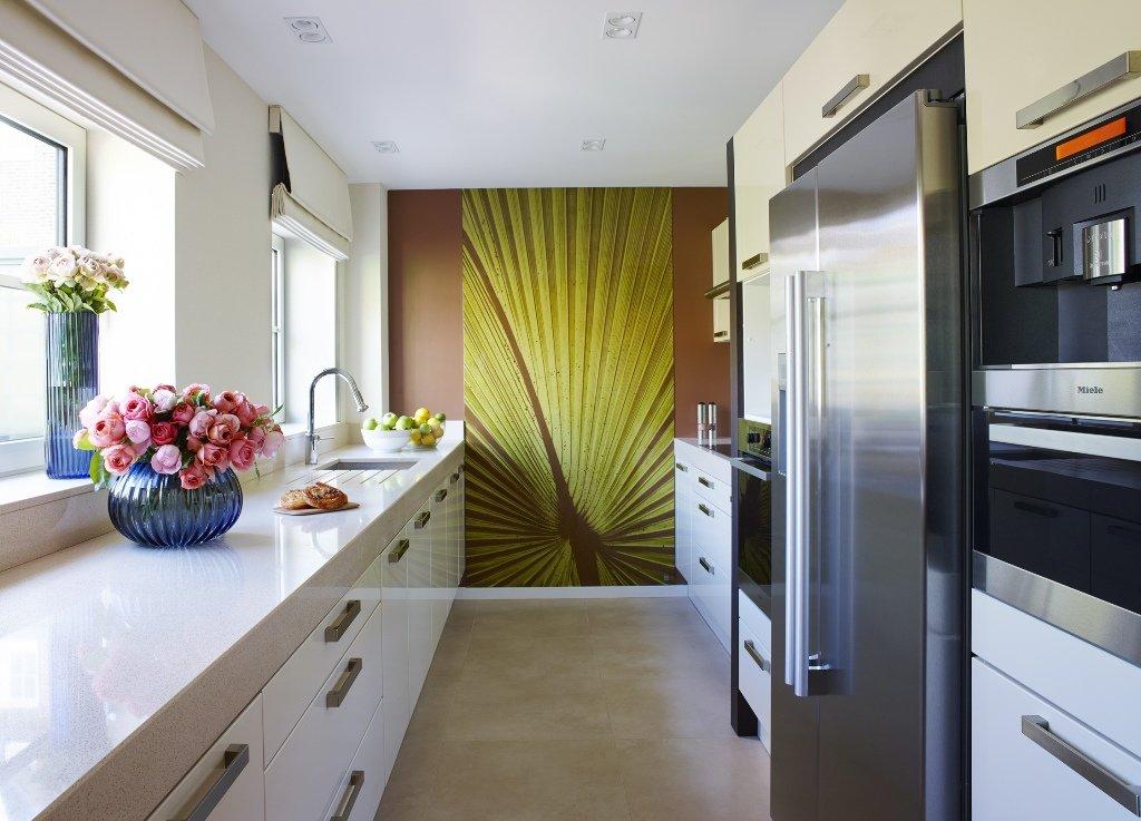 Дизайн узких длинных кухонь: особенности, фото.