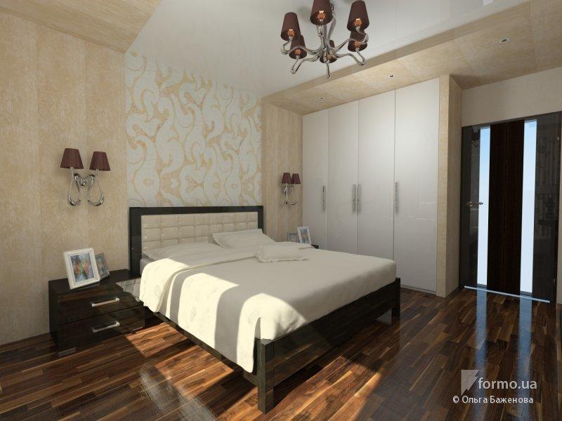 Кофейный минимализм в спальне