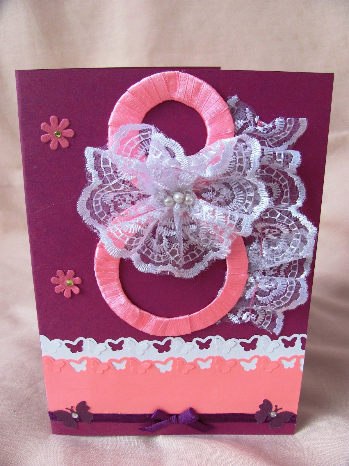 Февраля, как сделать поздравительную открытку маме на 8 марта
