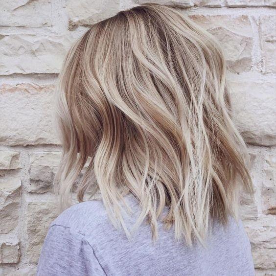 балаяж на каре светлые волосы фото