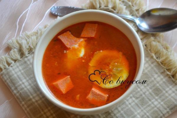 солянка рецепт классическая с колбасой и картошкой