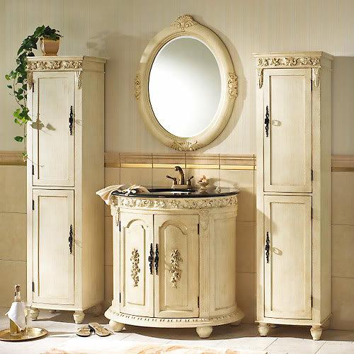 Гарнитур с зеркалом в ванной
