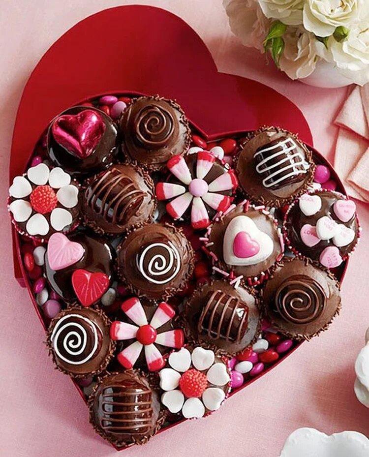 Открытка из шоколадных конфет