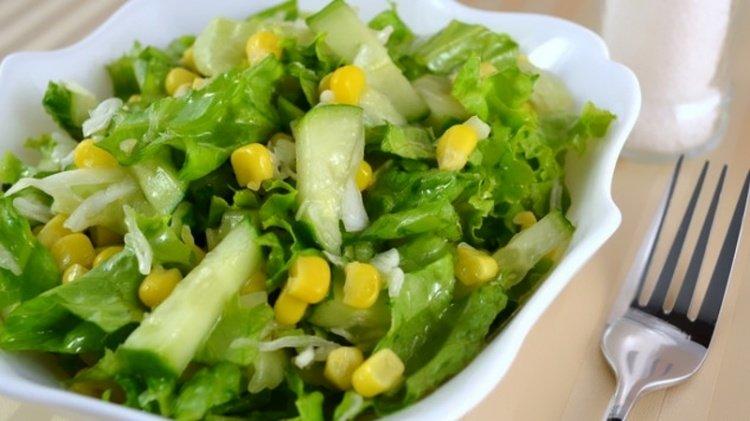 салат кукуруза капуста огурец