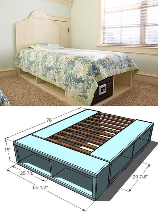 Кровать для ребенка с ячейками