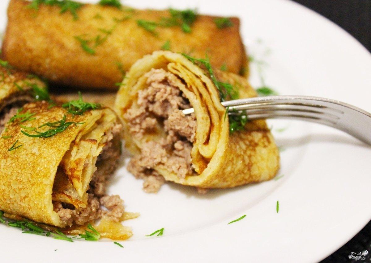блинчики с куриной печенью рецепт с фото