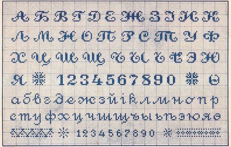 Вышивка крестиком алфавит русский схема