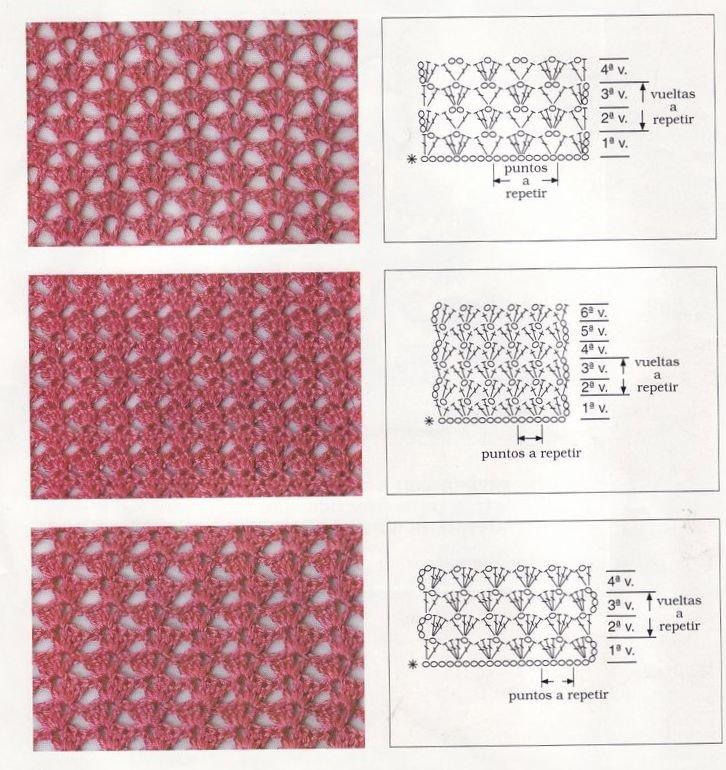 схемы и описания вязание крючком