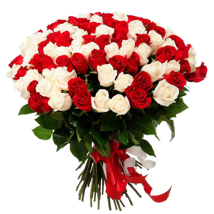Торговая, открытка розы белые и красные