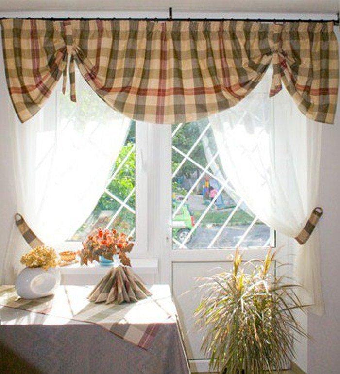 Занавески для кухни в деревенском стиле фото