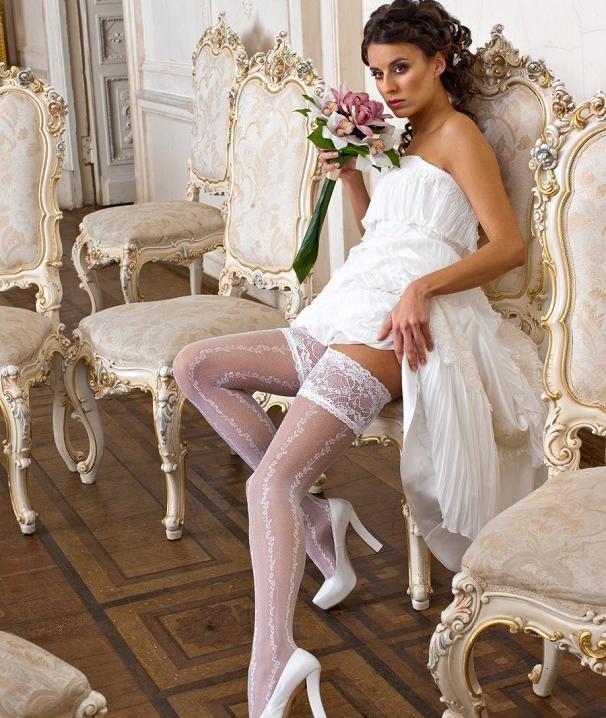 Невесты чулки платье