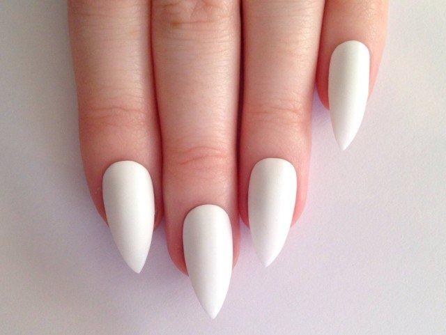 Нарощенные ногти белые фото