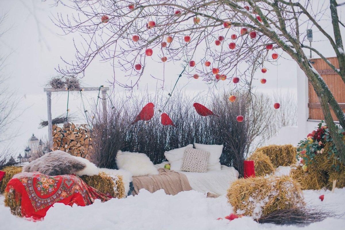 Фотозона в зимнем стиле