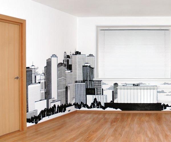 29 рисунков маркером вместо обоев / Дизайн интерьера