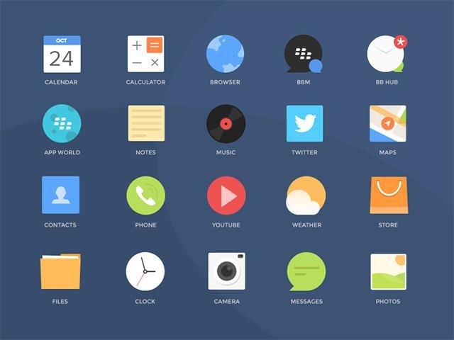 Бесплатные PSD иконки Blackberry