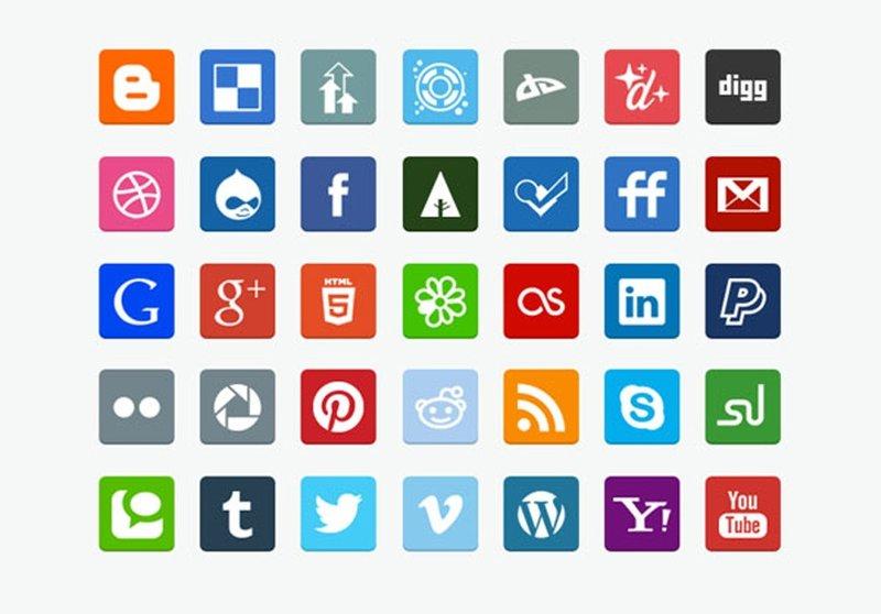 Blog by admin: Иконки: 20 наборов плоских социальных иконок