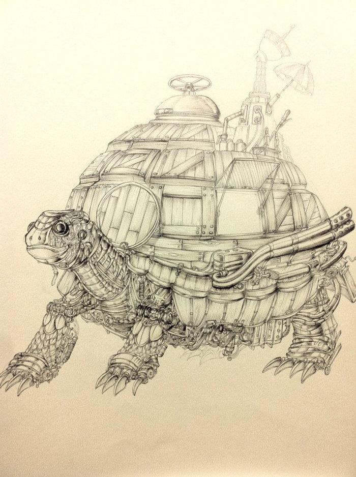 Черепаха в стиле Стимпанк