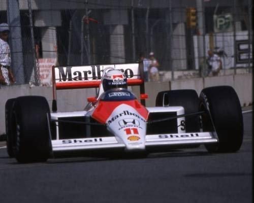 Детройт 1988, McLaren MP4/4 - Галерея - Фотографии Алена Проста - Галерея - Сайт об Алене Просте